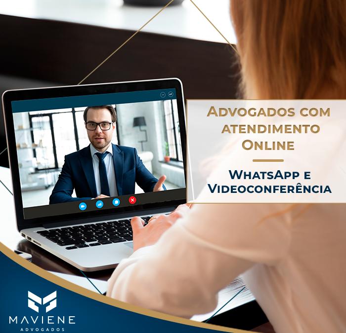 Advogados com atendimento Online, Whatsapp e Videoconferência
